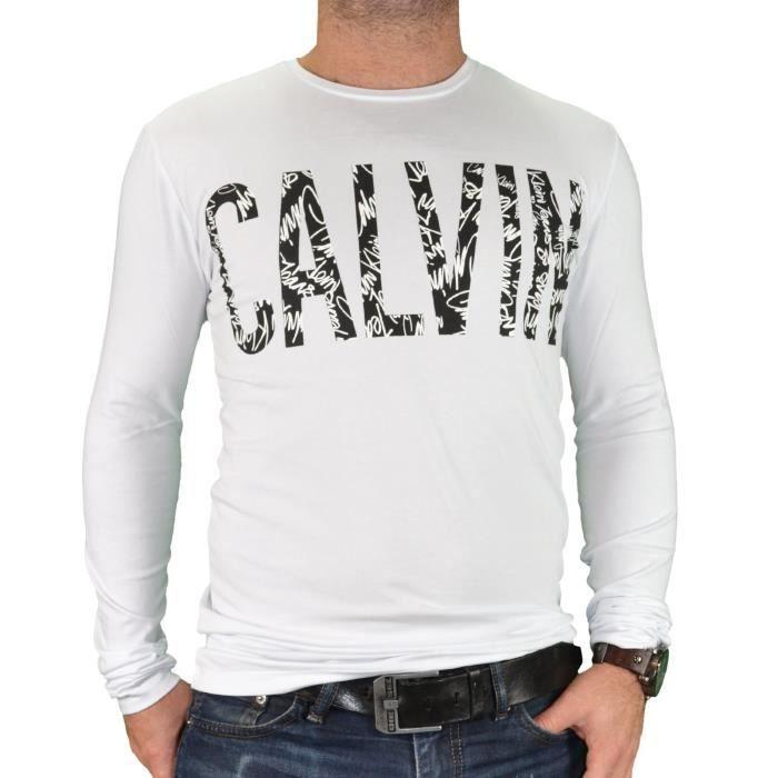 a419111c56f Calvin Klein - T shirt manches longues - Homme - Jungle 304676 ...