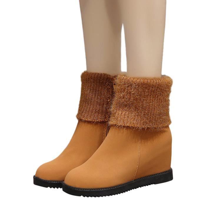 Neige Slip Rond Femmes Bottes Chaussures Chaudes Bout Compensées De b7g6fy