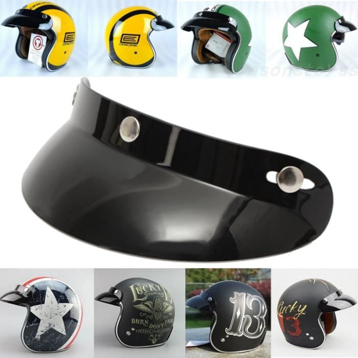 NEUFU Visière vintage de Moto casque pour Harley(sans casque)