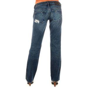 Pantalon jean brodee femme achat vente pantalon jean brodee femme pas cher cdiscount - Pantalon coupe droite femme pas cher ...