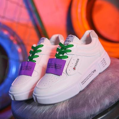 dff1e0081c202f 2414 Confortable Tendance Casual Sneakers Plates Chaussures Femmes Mode  0gwaBqfo