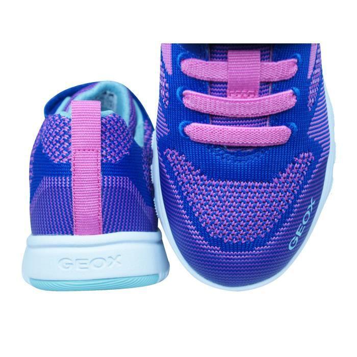 Geox J Xunday G.B. Filles Baskets - Chaussures Bleu 12.5K KsK6ax1hzs