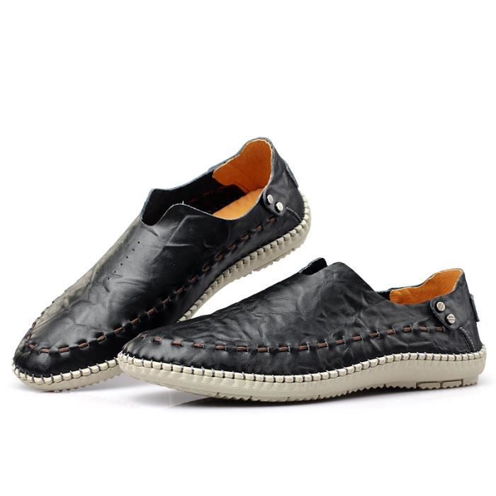 Mocassins Homme cuir Chaussure Casual Driving Chaussure