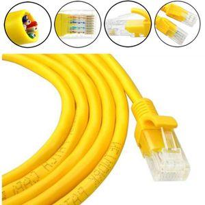 CÂBLE RÉSEAU  Câble Ethernet extérieur externe jaune de réseau d