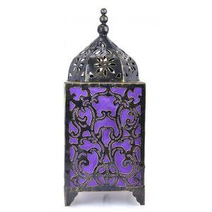LAMPE A POSER Lampe artisanale en fer forgé H45cm motif baroque