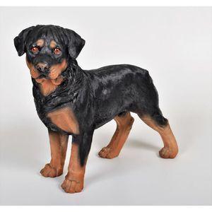 Chien en resine achat vente chien en resine pas cher for Decoration chien resine