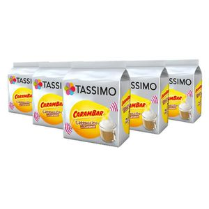DISTRIBUTEUR CAPSULES TASSIMO Carambar Cappuccino café, dosettes à café