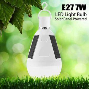 AMPOULE - LED TEMPSA Ampoule solaire 7W E27 pour tente camping p