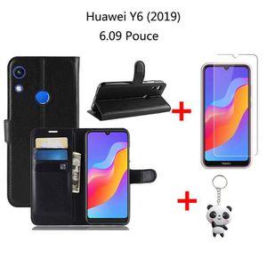 HOUSSE - ÉTUI Housse Huawei Y6 2019 Coque Luxe Étui à rabat Hous