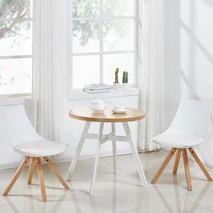 TABLE DE CUISINE  Table à manger ronde scandinave en bois - Puglia