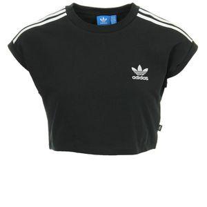 33e1675449f4e Débardeur adidas Originals Cropped Top Noir Noir, blanc - Achat ...