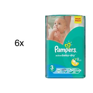 COUCHE 408 COUCHES PAMPERS ACTIVE BABY DRY taille 3