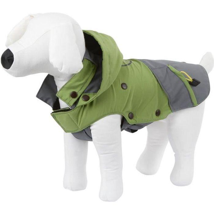 KERBL Manteau Vancouver S 35cm pour chien - Gris et vert