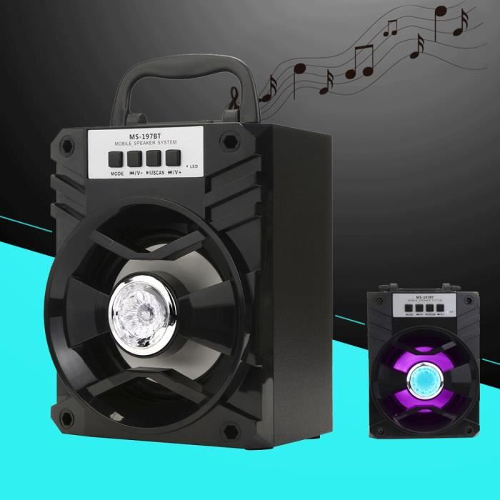 Extérieur Sans Fil Bluetooth Haut-parleur Portable Super Bass Avec Radio Usb - Tf Aux Fm Bhh70211005