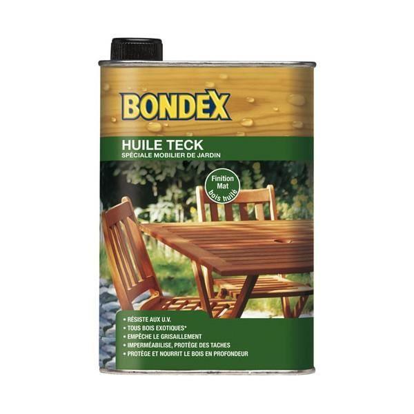 BONDEX - Huile Teck Spéciale Mobilier et Jardin 1.2L finition ma