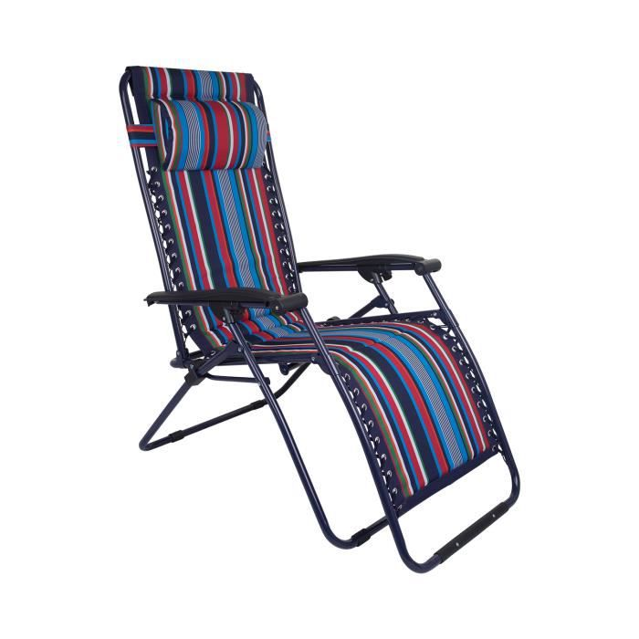Chaise longue inclinable camping voyage vacances j