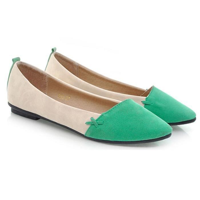 13e31bda76862 Ballerines Chaussures Femme Fille femme talons ... Vert - Achat ...