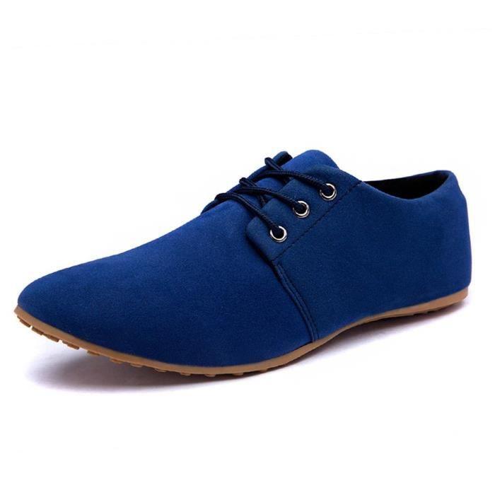Chaussures Bateau Casual Hommes D'affaires Robe Bout Mariée Pointu de Top Low Minetom Cuir à Suede Lacets HAq1qZ