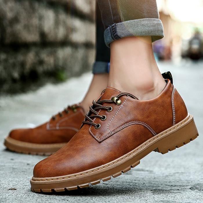 Mode pour hommes en cuir Oxford Chaussures Flats Casual Shoes Souliers d'affaires, mode masculine en cuir Oxford Occasionnels