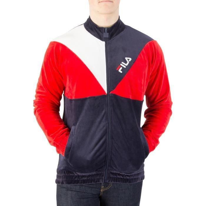 nouveaux articles les clients d'abord très loué Fila Vintage Homme Toby Velour Track Jacket, Bleu Bleu ...