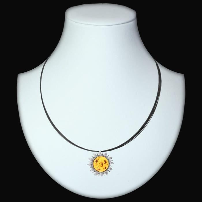 In Collections - 11203567100 - Collier Femme - Argent 925-1000 3.70 Gr - Ambre Z8P0R H5kVZ