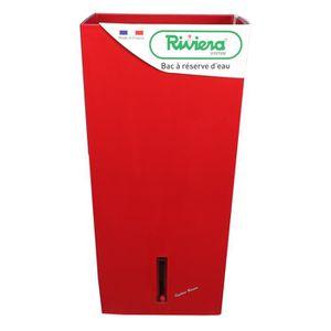 RIVIERA Pot carré Eva New en plastique H52cm - 31l - Rouge