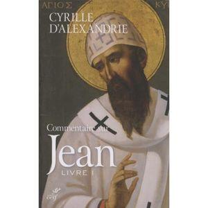 MATELAS Commentaire sur Jean. Tome 1 (Livre I), Edition bi