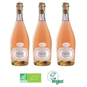 PÉTILLANT & MOUSSEUX Lot de 3 bouteilles Fizzy Rosé Bio et Vegan