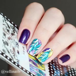 decoration ongles plumes