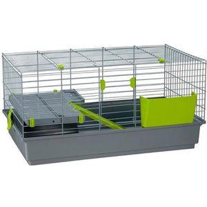 CAGE Longue cage pour lapins et cochons d'Inde à 2 étag