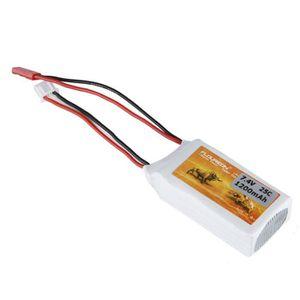 BATTERIE VÉHICULE Floureon 2S LiPo Batterie 7.4V 1200mAh 25C Avec JS