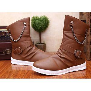 Bottes d'automne Colombie-Martin bottes bottes courtes pour les hommes de loisirs  brown - Achat / Vente botte  - Soldes* dès le 27 juin ! Cdiscount