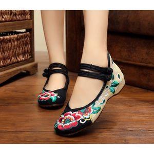 BALLERINE Ballerines Chaussures Femme chaussures en tissu br