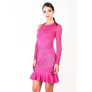 Robe Avec S Longues À Rose Manches Volants Pour Femme Pinko 08wnOPkX