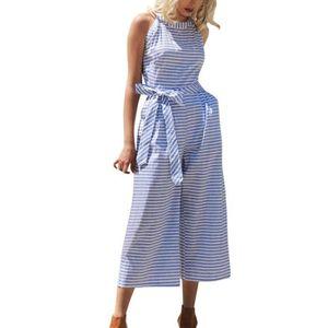 COMBINAISON Femme sans manches rayée combinaison Casual Clubwe