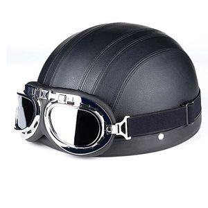 CASQUE MOTO SCOOTER Casque Moto Demi casque Version coréenne La mode C