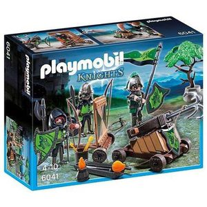 FIGURINE - PERSONNAGE Playmobil Loup Chevaliers Avec Catapulte VFSTK
