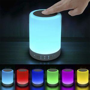 LAMPE A POSER LED tactile Lampe de chevet - Bluetooth Speaker l