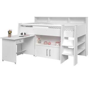 lit mezzanine enfant avec bureau achat vente lit mezzanine enfant avec bureau pas cher. Black Bedroom Furniture Sets. Home Design Ideas