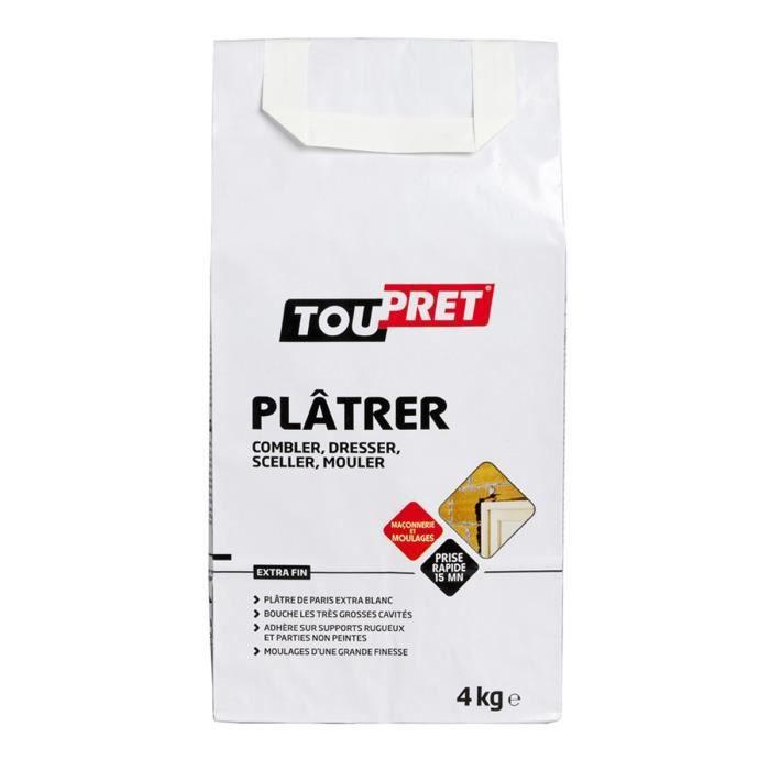 TOUPRET Plâtre 4 kg