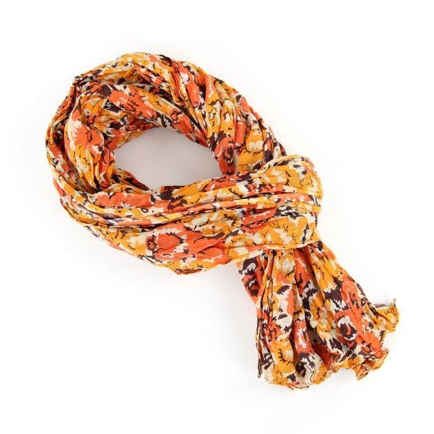 814b01754eb0 Chèche pur coton Roz orange - Achat   Vente echarpe - foulard ...