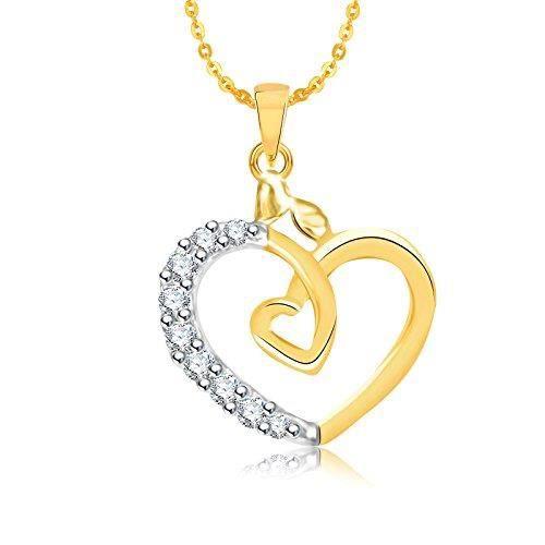 Cadeaux Saint Valentin femmes Pendentifs pour Avec chaîne plaqué or Ps555 G3DBE