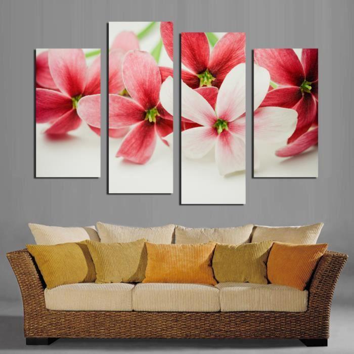 Pas De Tableau Peinture Murale Fleur Rose Toile Peinture Décoration à La  Maison Photos Peinture Murale Pour Salon Image Modulaire