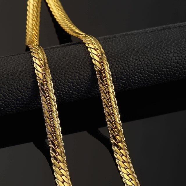 CHAINE DE COU SEULE Gold Chain Trendy Pour les hommes Bijoux or jaune 39702d009c03