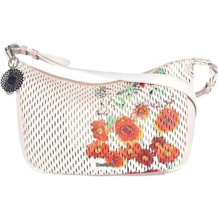 besaces/sacs bandoulière bols_margaritas somalia femme desigual 18saxpgp Blanc