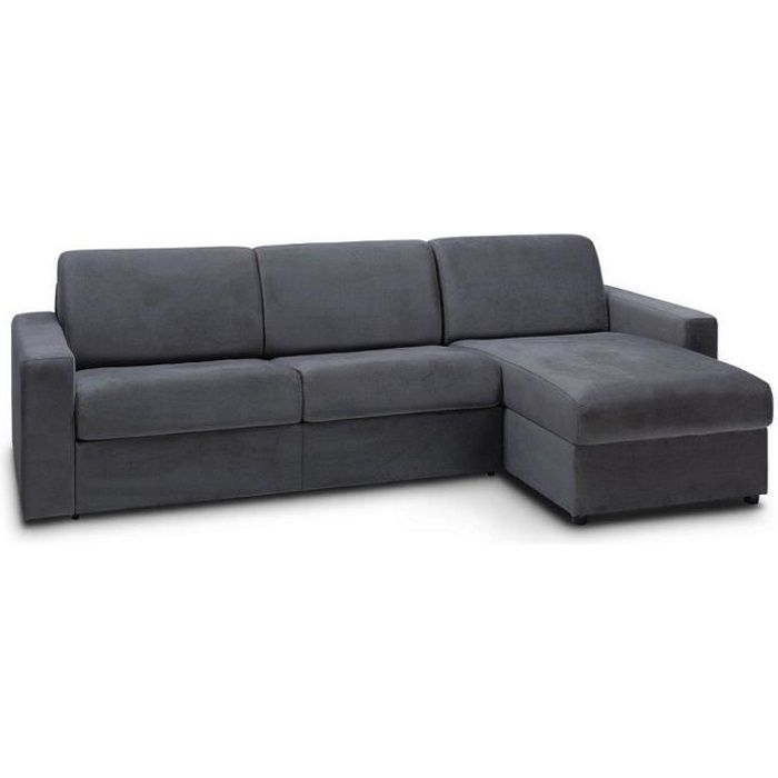 Night Velours Gris 140 Couchage Inside75 D'angle Convertible Cm Canapé Anthracite Edition Rapido zqUMLSGVp
