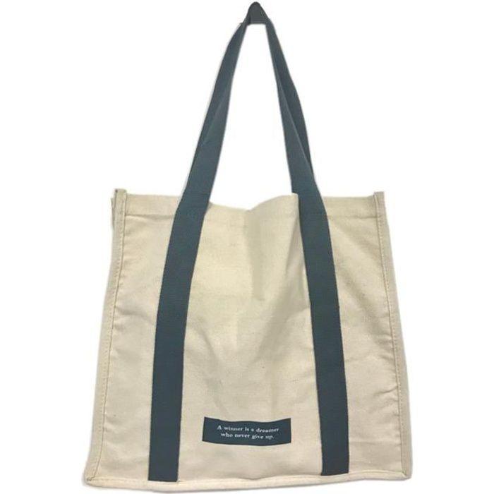 36 Bag Très Beigeamp; Toile Coton Sac Naturel En Cabas Gris Tote Épais 8w0vnyNmO