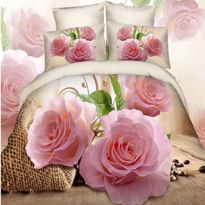 Parure De Lit Avec Motif Roses Roses Sac Cafe Et Grains De Cafe