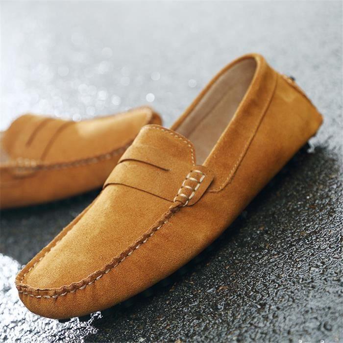Mode Casual Pois Chaussures En Suède Mocassins ...