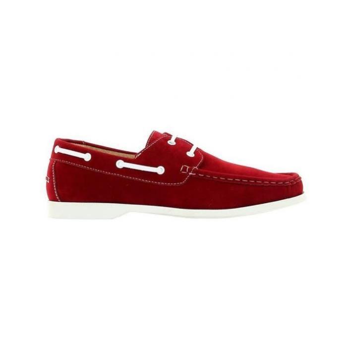 Chaussure bateau Reservoir Shoes Rouge